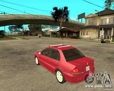 Mitsubishi Lancer 2005 para GTA San Andreas left