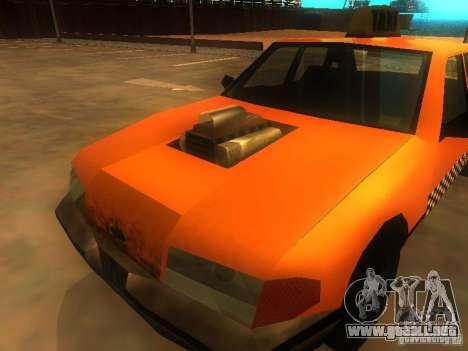 Crazy Taxi para GTA San Andreas vista hacia atrás