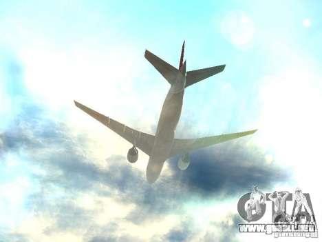 Boeing 777-200 Japan Airlines para vista inferior GTA San Andreas