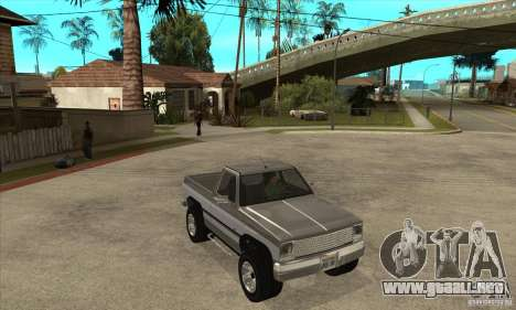 Ford Ranger para visión interna GTA San Andreas