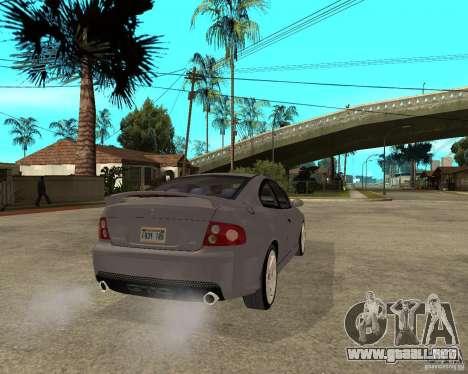 2005 Pontiac GTO para GTA San Andreas vista posterior izquierda
