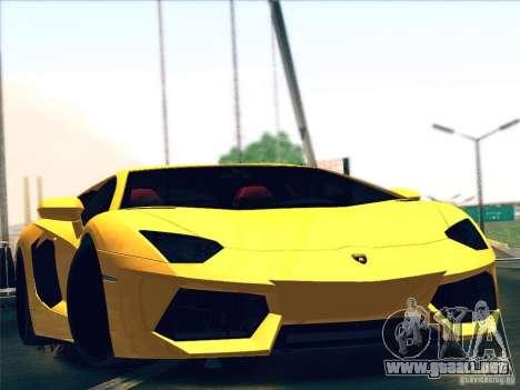 Lamborghini Aventador LP700-4 2011 V1.0 para visión interna GTA San Andreas