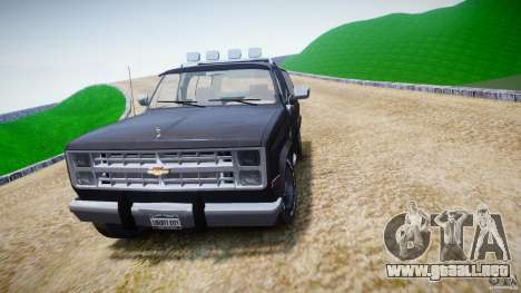 Chevrolet Blazer K5 Stock para GTA 4 vista lateral