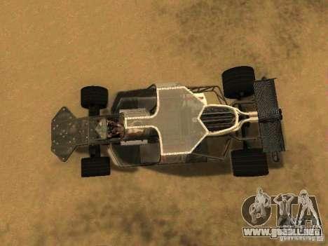 Fast & Furious 6 Flipper Car para GTA San Andreas vista hacia atrás