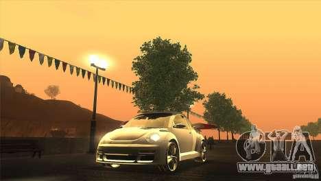 Volkswagen Beetle Tuning para GTA San Andreas vista hacia atrás