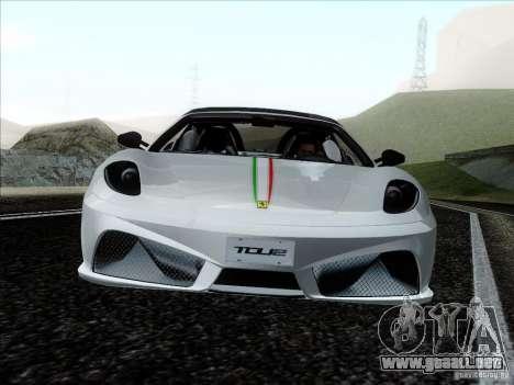 Ferrari F430 Scuderia Spider 16M para vista lateral GTA San Andreas
