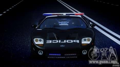Ford GT1000 Hennessey Police 2006 [EPM][ELS] para GTA 4 interior