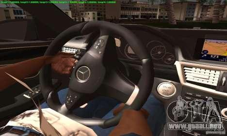 Mercedes-Benz E63 AMG 2010 para visión interna GTA San Andreas