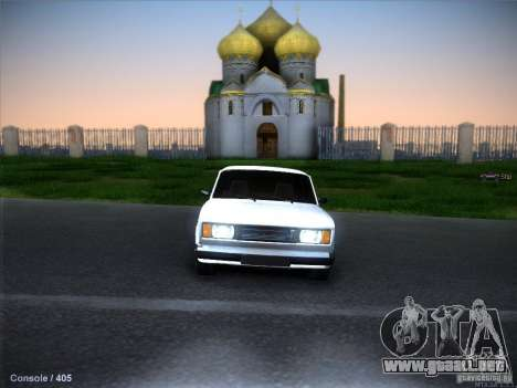 Vaz 2105 stock calidad para vista inferior GTA San Andreas