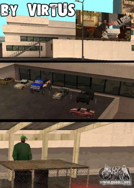 Cars shop in San-Fierro beta para GTA San Andreas