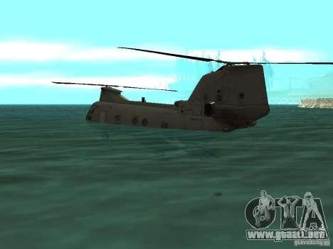 Helicóptero Leviathan para GTA San Andreas vista hacia atrás
