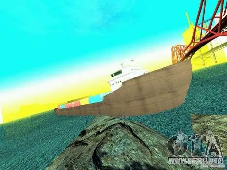 Drivable Cargoship para GTA San Andreas segunda pantalla
