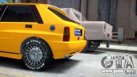 Lancia Delta HF Integrale para GTA 4 Vista posterior izquierda