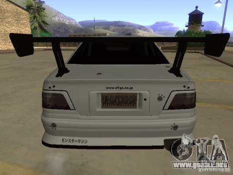 Toyota Chaser JZX100 Tuning by TCW para vista inferior GTA San Andreas