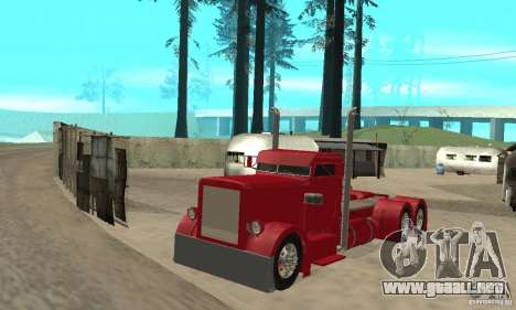 Peterbilt Coupe para GTA San Andreas left