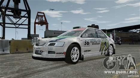 Mitsubishi Lancer Evolution IX RallyCross para GTA 4 vista interior