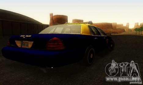 Ford Crown Victoria West Virginia Police para GTA San Andreas left