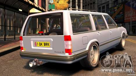 Volvo 945 Wentworth R Ridiculous Drift para GTA 4 Vista posterior izquierda