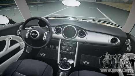 Mini Cooper S para GTA 4 vista superior