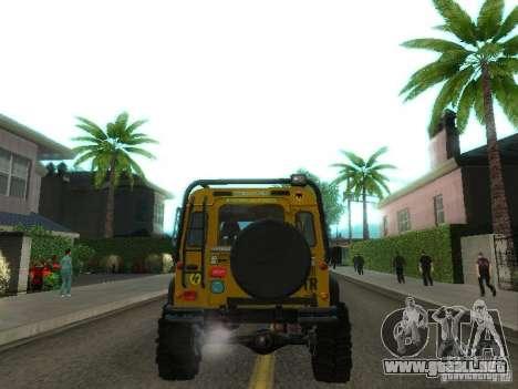 Land Rover Defender Off-Road para la visión correcta GTA San Andreas