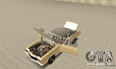 Chevy Monte Carlo [F&F3] para GTA San Andreas vista hacia atrás