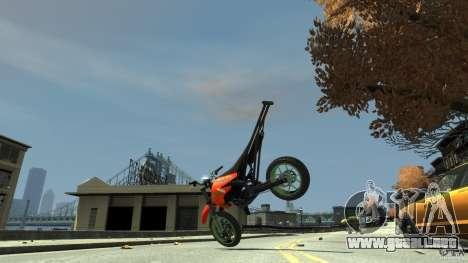 Stunt Supermotard Sanchez para GTA 4 vista interior