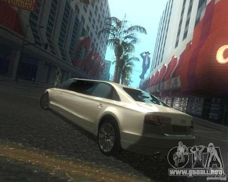 Audi A8 2011 Limo para vista lateral GTA San Andreas