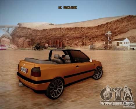 Volkswagen Golf MkIII Cabrio Custom 1995 para la visión correcta GTA San Andreas