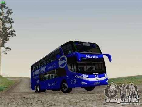 Marcopolo Paradiso 1800 DD Navette XL Coomotor para la visión correcta GTA San Andreas