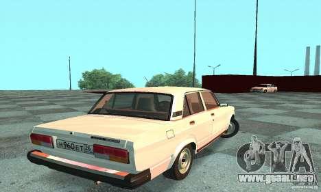 VAZ 2107 v. 3 para GTA San Andreas vista posterior izquierda
