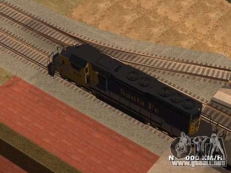SD 40 UP BN Santa Fe para GTA San Andreas left