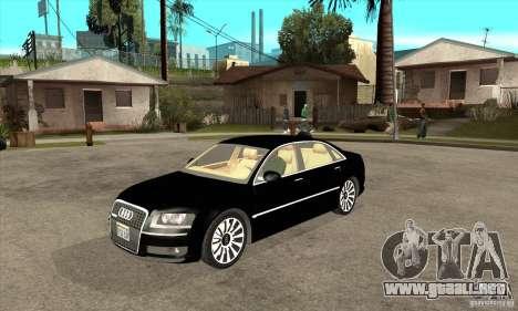 Audi A8 del portador 3 para GTA San Andreas