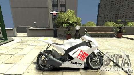 Yamaha YZR M1 MotoGP 2009 para GTA 4 left