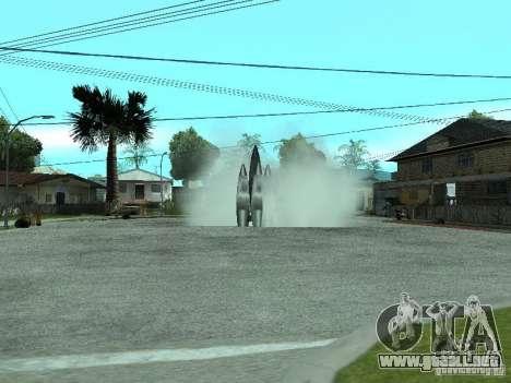 Vuelo al espacio para GTA San Andreas segunda pantalla