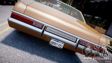 Mercury Monterey 2DR 1972 para GTA 4 vista superior