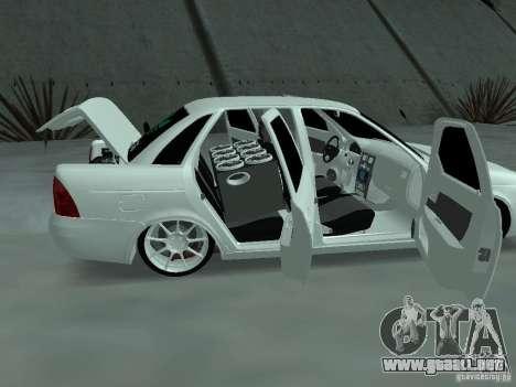 Lada Priora Adidas para visión interna GTA San Andreas