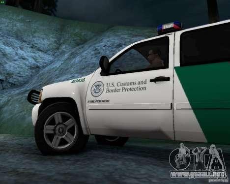 Chevrolet Silverado Police para visión interna GTA San Andreas