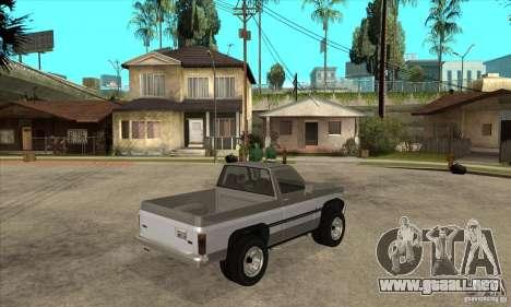 Ford Ranger para GTA San Andreas vista hacia atrás