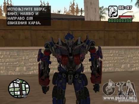 Optimus Prime para GTA San Andreas