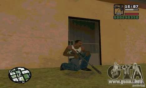 El KSVK (IOS-98) para GTA San Andreas sucesivamente de pantalla