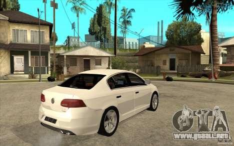 Volkswagen Passat 2.0 TDI Bluemotion 2011 para la visión correcta GTA San Andreas