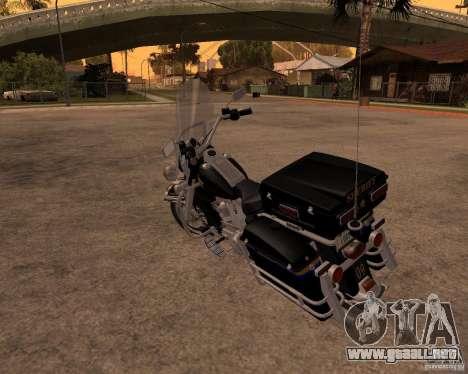 Harley Davidson Police 1997 para la visión correcta GTA San Andreas