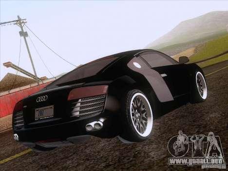 Audi R8 Hamann para vista inferior GTA San Andreas