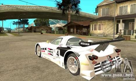 Nissan R390 GT1 1998 v1.0.0 para la visión correcta GTA San Andreas