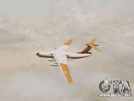 Ilyushin Il-76td para GTA San Andreas vista hacia atrás