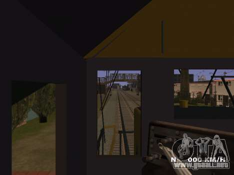SD 40 UP BN Santa Fe para visión interna GTA San Andreas