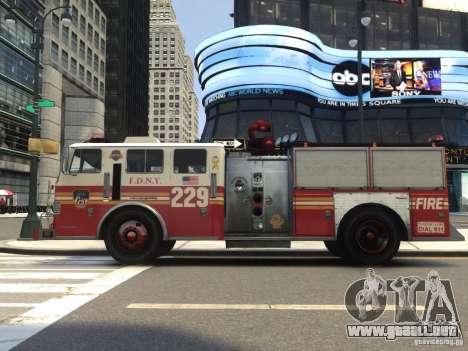 Fire Truck FDNY para GTA 4 vista hacia atrás