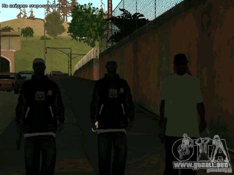 Nuevo Ballas East side Purpz para GTA San Andreas