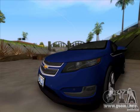 Chevrolet Volt 2012 Stock para GTA San Andreas left
