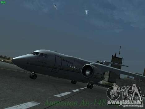 Antonov an-148 Aerosvit Ukrainian Airlines para GTA San Andreas left